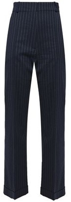 Racil Pinstriped Stretch-wool Straight-leg Pants