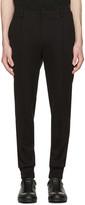Wooyoungmi Black Jersey Cuffed Trousers