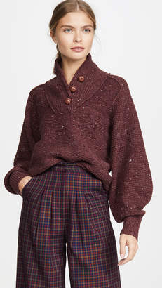 Rag & Bone Klark Button Up Sweater