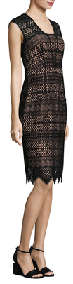 Shoshanna Lace Knee Length Dress