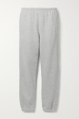 RE/DONE Hanes 80s Melange Cotton-jersey Track Pants - Gray
