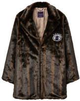 Violeta BY MANGO Appliqu?? faux-fur coat
