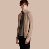Burberry Zip Front Wool Cashmere Cardigan , Size: Xs, Beige
