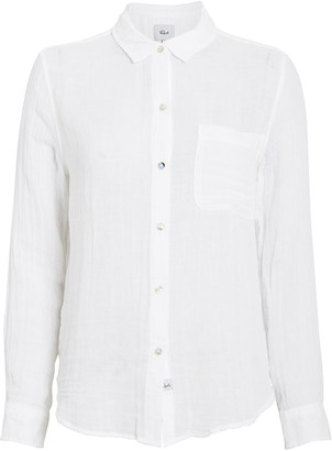 Rails Hadley White Gauze Button Down Shirt