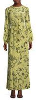 Diane von Furstenberg Floral-Print Silk Maxi Dress