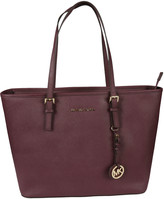 MICHAEL Michael Kors Leather Jet Set Travel Tote