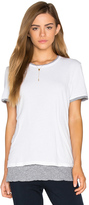 Monrow Double Layer Short Sleeve Tee