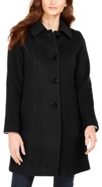 Anne Klein Club-Collar Walker Coat, Created for Macy's
