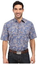Stetson Brocade Paisley Short Sleeve Woven Snap Shirt