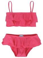 Melissa Odabash Pink Bandeau Frill Bikini