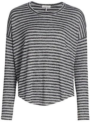 Rag & Bone Striped Knit Long-Sleeve Shirt