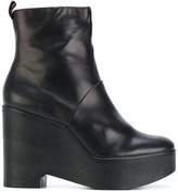 Robert Clergerie wedge boots - women - Lamb Skin/Leather/rubber - 36