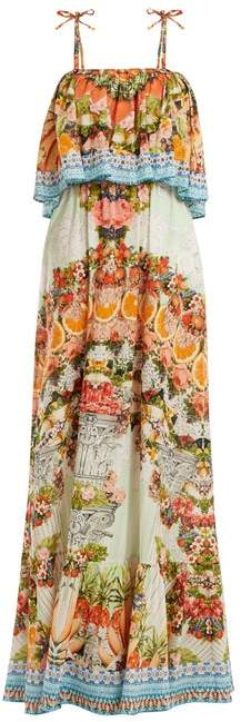 Camilla Slice Of Paradise Maxi Dress - Womens - Orange Multi