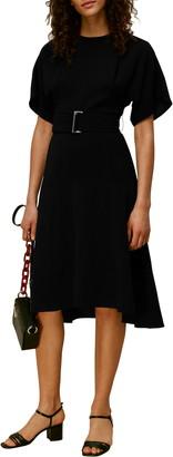 Whistles Textured Belt Dress