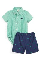 Little Me Infant Boy's Whale Bodysuit & Shorts Set