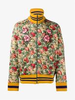 Gucci Floral Print Cotton Blend Jacket