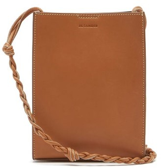 Jil Sander Tangle Small Knotted-strap Leather Cross-body Bag - Tan