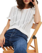 Topshop Stitchy Knitted T-Shirt