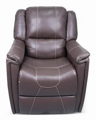 Thomas Laboratories Manual Rocker Recliner Payne Furniture Fabric: Majestic Chocolate Faux Leather