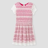 Say What Girls' Lace Dress - Hot Pink