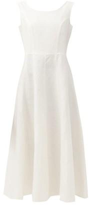 Gioia Bini Anya Sweetheart-back Linen Maxi Dress - White