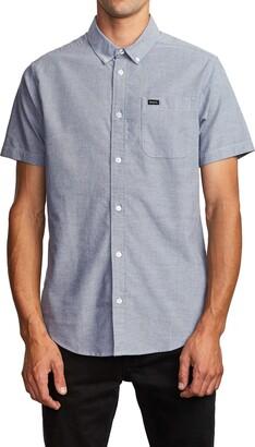 RVCA That'll Do Solid Short Sleeve Button-Down Shirt