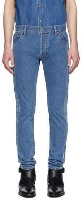 Balmain Blue Logo Slim Jeans