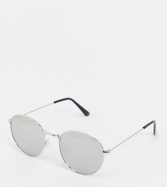 South Beach Exclusive hexagon smoke lens sunglasses with silver frames