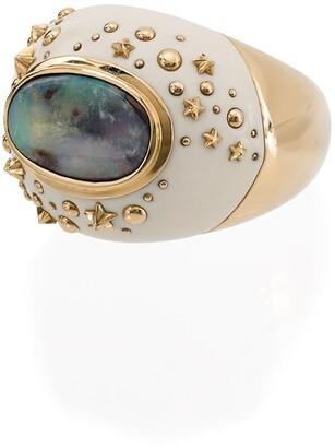 Bibi Van Der Velden 18kt yellow gold Mammoth Dome Galaxy ring