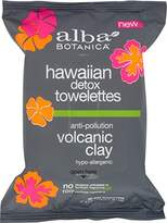 Alba Hawaiian Detox Towelettes Anti-Pollution Volcanic Clay, 30 Count