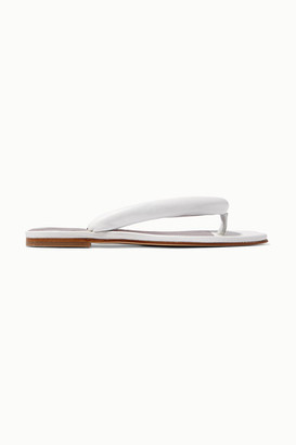 STAUD Rio Leather Sandals - White