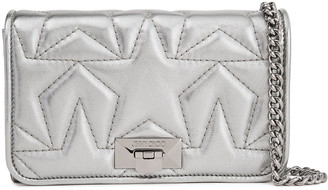 Jimmy Choo Metallic Quilted Leather Clutch