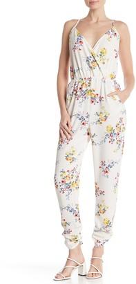 Material Girl Surplice Floral Jumpsuit