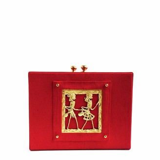 Simitri Red Tribal Briefcase