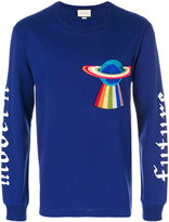 Gucci UFO embroidered long sleeve T-shirt
