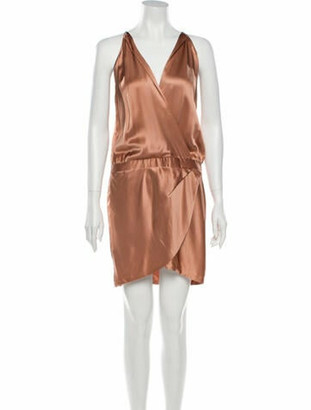 Mason by Michelle Mason Silk Mini Dress Pink