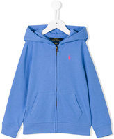 Ralph Lauren embroidered logo hoodie - kids - Cotton/Polyester - 5 yrs