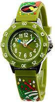 Baby Watch – 3700230605996 – Zap Prehistoric – Boys 'Watch – Analogue Quartz – Green Dial Green Plastic Strap