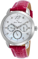 Lucien Piccard Stainless Steel & Pink Rivage Leather-Strap Watch - Women