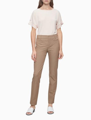 Calvin Klein Modern Essentials Solid Camel Stretch Pants