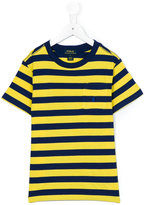Ralph Lauren striped pocket T-shirt - kids - Cotton - 10 yrs