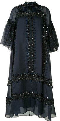 Biyan Heavily Embellished Shift Dress