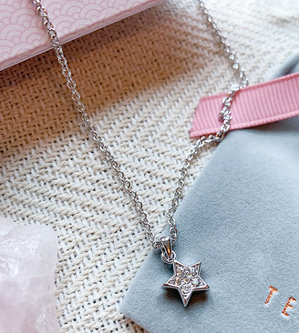 Ted Baker Saigi star pendant necklace in silver and crystal