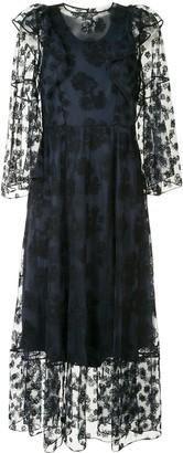 Chloé Sheer Lace Overlay Dress