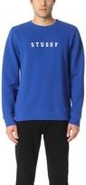 Stussy Felt Applique Crew Sweatshirt