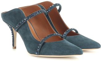 Malone Souliers Maureen Crystal suede mules