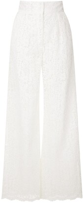 Dolce & Gabbana Floral Lace Palazzo Trousers