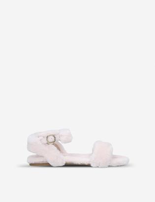 Kurt Geiger Smitten faux-fur sandals 7-10 years