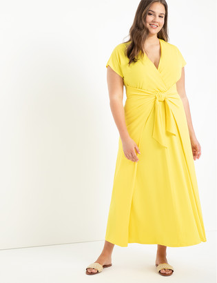 ELOQUII Easy Maxi Dress With Wrap Tie Skirt