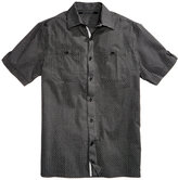 Sean John Men's Big & Tall Dash Dobby Pattern Cotton Shirt
